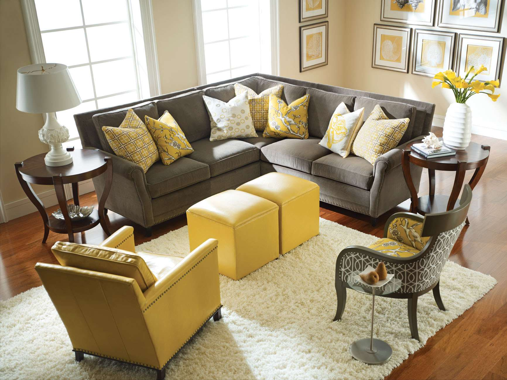 Yellow Living Room Ideas Walls Interior