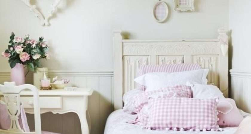 Young Girl Vintage White Pink Bedroom Photos
