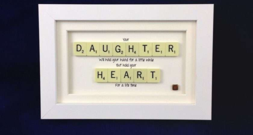 Your Daughter Hold Heart Scrabble Art