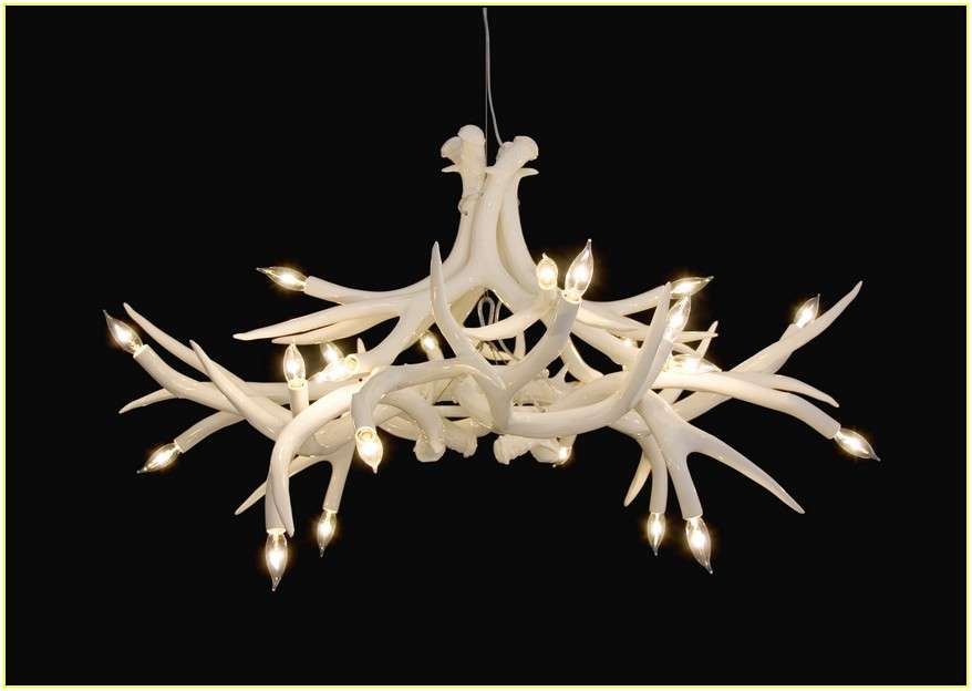 Your Home Improvements Refference White Antler Chandelier