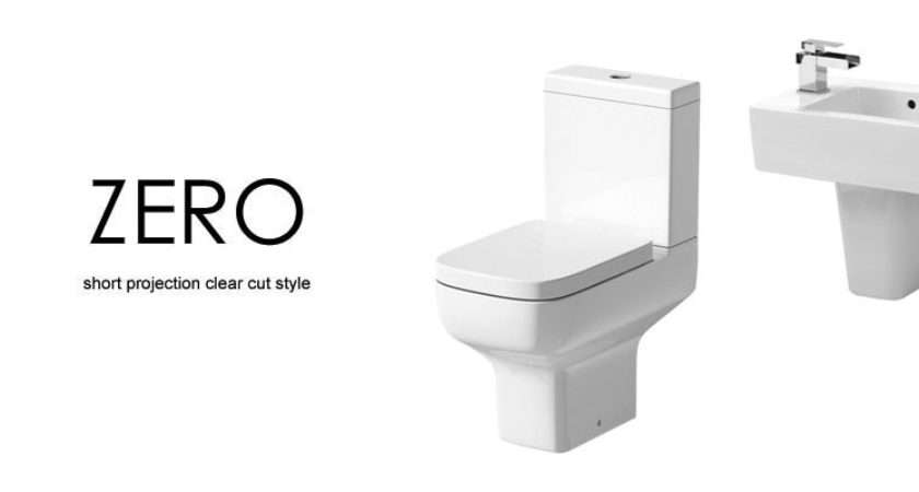 Zero Space Saver Cloakroom Suite Wall Hung Basin Semi Pedestal